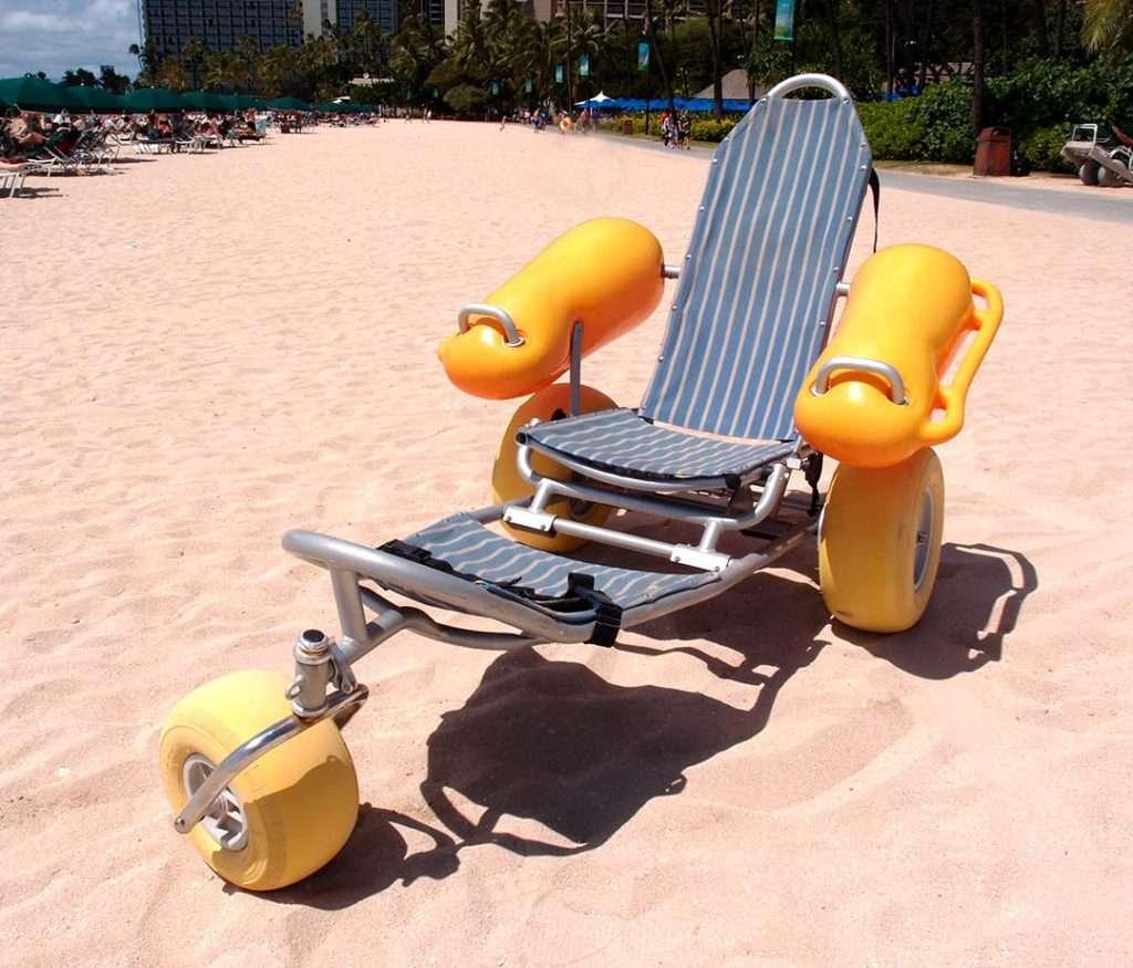 strandkørestol, badestol